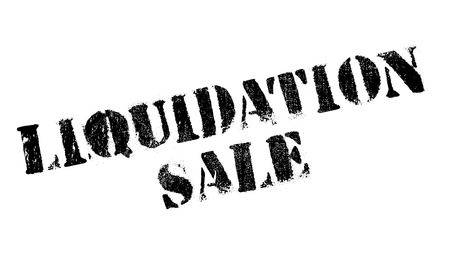 Liquidation Sale rubber stamp. Grunge design with dust scratches. Effects can be easily removed for a clean, crisp look. Color is easily changed. Ilustração Vetorial
