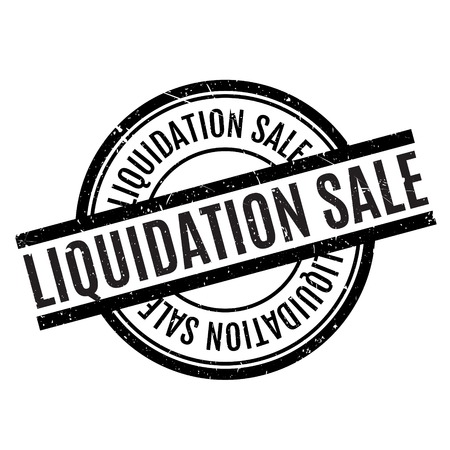 liquidation: Liquidation Sale rubber stamp. Grunge design with dust scratches. Effects can be easily removed for a clean, crisp look. Color is easily changed.