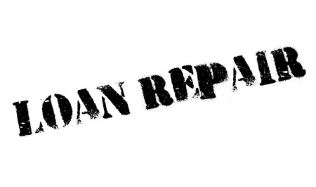 darn: Loan Repair rubber stamp. Grunge design with dust scratches. Effects can be easily removed for a clean, crisp look. Color is easily changed.
