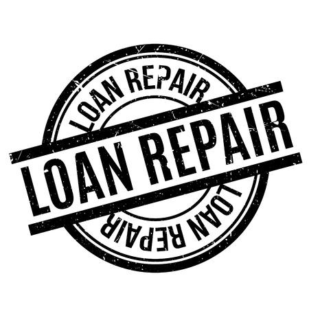 reformation: Loan Repair rubber stamp. Grunge design with dust scratches. Effects can be easily removed for a clean, crisp look. Color is easily changed.