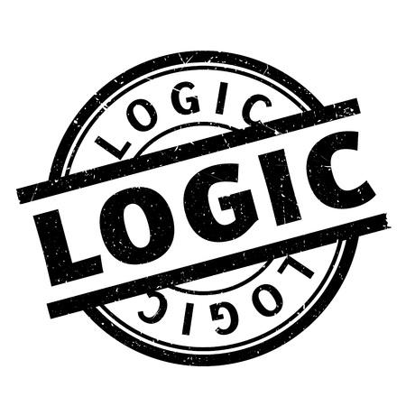Sello de goma Logic. Diseño de Grunge con los rasguños polvo. Los efectos se pueden quitar fácilmente para una apariencia limpia y nítida. El color se cambia fácilmente. Foto de archivo - 72341252