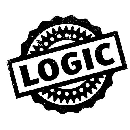 Sello de goma Logic. Diseño de Grunge con los rasguños polvo. Los efectos se pueden quitar fácilmente para una apariencia limpia y nítida. El color se cambia fácilmente. Foto de archivo - 72341255