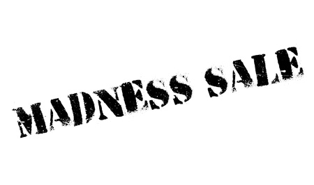 lunacy: Madness Sale rubber stamp. Grunge design with dust scratches. Effects can be easily removed for a clean, crisp look. Color is easily changed.