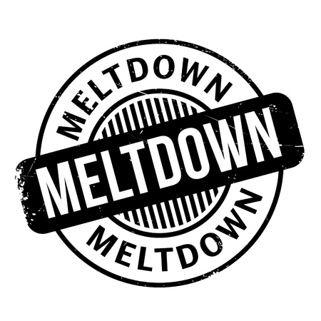 credit crunch: Meltdown rubber stamp. Grunge design with dust scratches. Effects can be easily removed for a clean, crisp look. Color is easily changed. Illustration