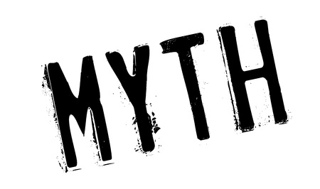 Myth rubber stamp. Grunge design with dust scratches. Effects can be easily removed for a clean, crisp look. Color is easily changed. Illustration