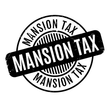 Mansion Tax Stempel . Grunge-Design mit Staub Kratzer . Effekte können für ein sauberes Aussehen leicht entfernt werden . Die Farbe ist leicht geändert