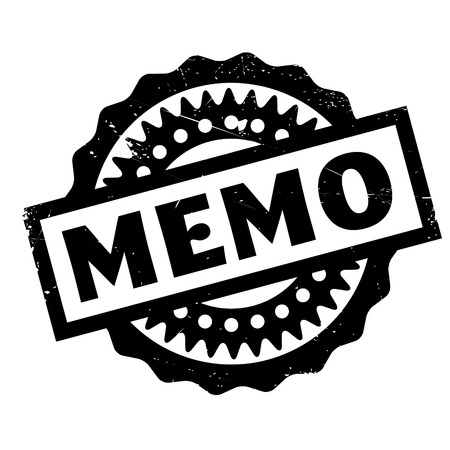 told: Memo rubber stamp. Grunge design with dust scratches. Effects can be easily removed for a clean, crisp look. Color is easily changed. Illustration