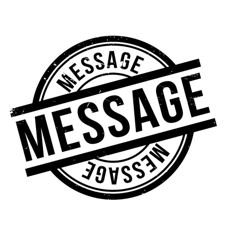 missive: Message rubber stamp. Grunge design with dust scratches. Effects can be easily removed for a clean, crisp look. Color is easily changed. Illustration