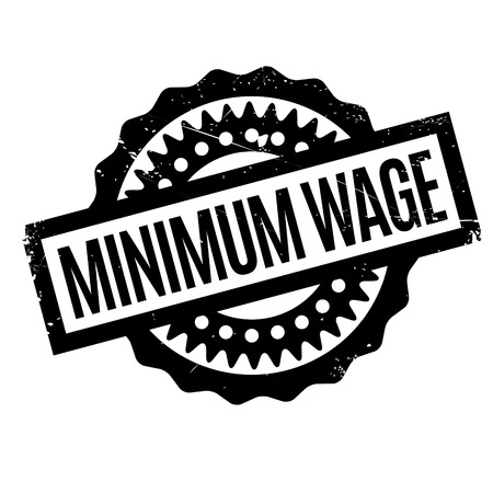 Minimum Wage rubber stamp. Grunge design with dust scratches. Effects can be easily removed for a clean, crisp look. Color is easily changed. Banco de Imagens - 72456005