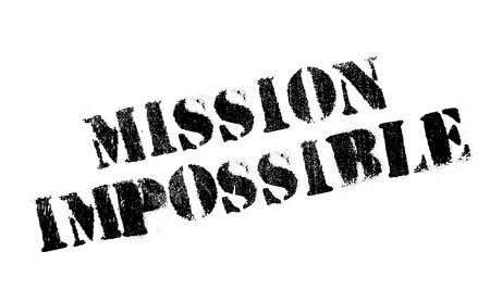 futile: Mission Impossible rubber stamp. Grunge design with dust scratches. Effects can be easily removed for a clean, crisp look. Color is easily changed.