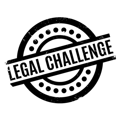 Legal Challenge rubber stamp. Grunge design with dust scratches. Effects can be easily removed for a clean, crisp look. Color is easily changed. Illustration