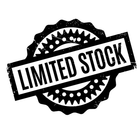 stockpile: Limited Stock rubber stamp. Grunge design with dust scratches. Effects can be easily removed for a clean, crisp look. Color is easily changed. Illustration