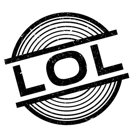 abbreviated: Lol rubber stamp. Grunge design with dust scratches. Effects can be easily removed for a clean, crisp look. Color is easily changed. Illustration
