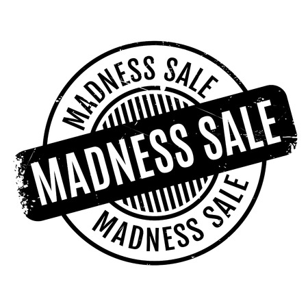 mania: Madness Sale rubber stamp. Grunge design with dust scratches. Effects can be easily removed for a clean, crisp look. Color is easily changed.