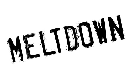 meltdown: Meltdown rubber stamp. Grunge design with dust scratches. Effects can be easily removed for a clean, crisp look. Color is easily changed. Illustration