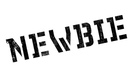 newbie: Newbie rubber stamp. Grunge design with dust scratches. Effects can be easily removed for a clean, crisp look. Color is easily changed. Illustration