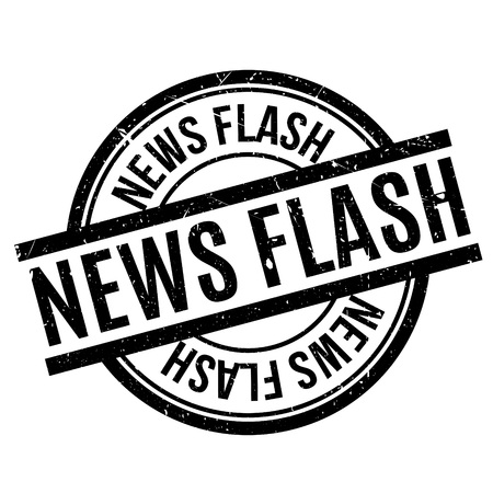 News Flash rubber stamp. Grunge design with dust scratches. Effects can be easily removed for a clean, crisp look. Color is easily changed. Illustration
