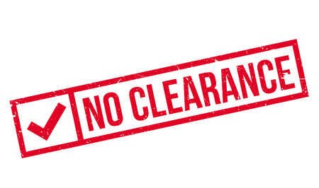 clearing: No Clearance rubber stamp. Grunge design with dust scratches. Effects can be easily removed for a clean, crisp look. Color is easily changed. Illustration