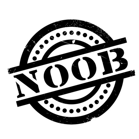 Noob rubber stamp. Grunge design with dust scratches. Effects can be easily removed for a clean, crisp look. Color is easily changed. Illustration