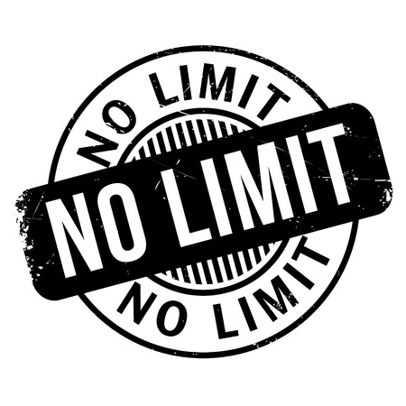 unrestricted: No Limit rubber stamp. Grunge design with dust scratches. Effects can be easily removed for a clean, crisp look. Color is easily changed.