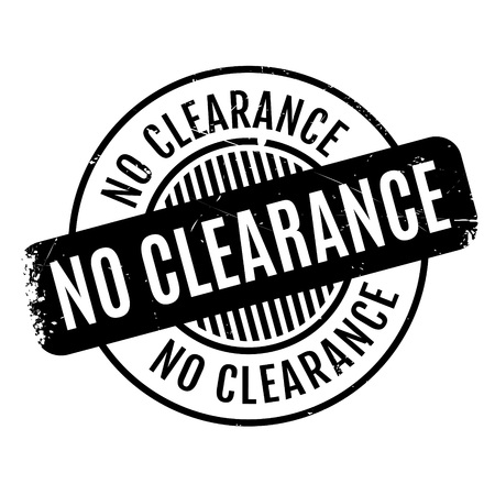 endorsement: No Clearance rubber stamp. Grunge design with dust scratches. Effects can be easily removed for a clean, crisp look. Color is easily changed. Illustration
