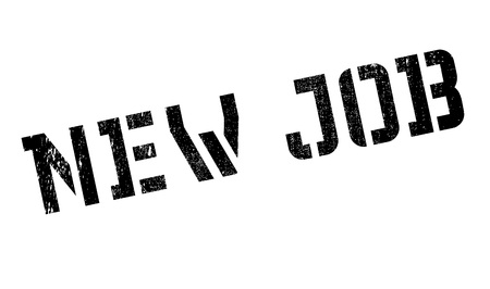 job posting: New Job rubber stamp. Grunge design with dust scratches. Effects can be easily removed for a clean, crisp look. Color is easily changed. Illustration