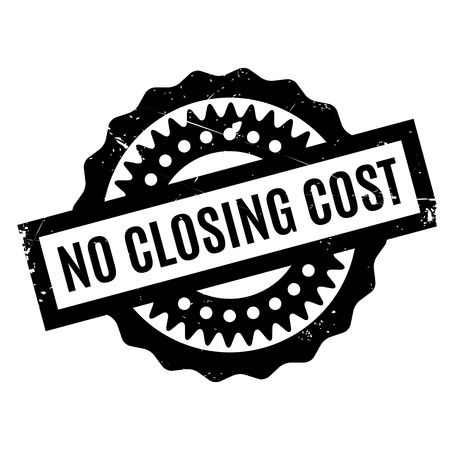 No Closing Cost rubber stamp. Grunge design with dust scratches. Effects can be easily removed for a clean, crisp look. Color is easily changed. Illustration