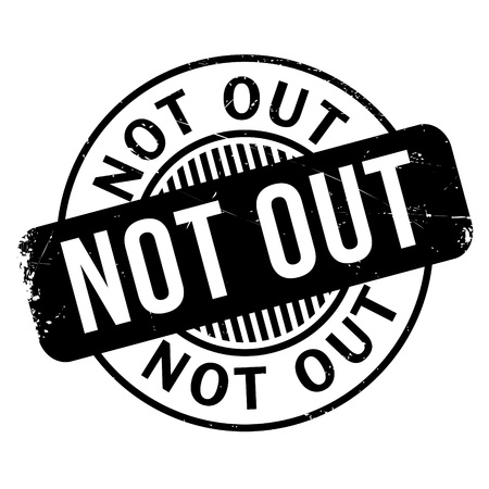 umpiring: Not Out rubber stamp. Grunge design with dust scratches. Effects can be easily removed for a clean, crisp look. Color is easily changed.