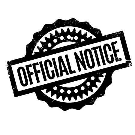 cognizance: Official Notice rubber stamp. Grunge design with dust scratches. Effects can be easily removed for a clean, crisp look. Color is easily changed.