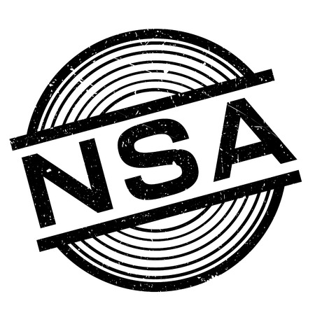 Nsa rubber stamp. Grunge design with dust scratches. Effects can be easily removed for a clean, crisp look. Color is easily changed. Ilustrace