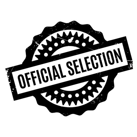 authoritative: Official Selection rubber stamp. Grunge design with dust scratches. Effects can be easily removed for a clean, crisp look. Color is easily changed.