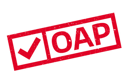 oap: Oap Office Of Atoms For Peace rubber stamp. Grunge design with dust scratches. Effects can be easily removed for a clean, crisp look. Color is easily changed.