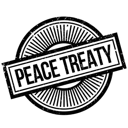 Peace Treaty rubber stamp. Grunge design with dust scratches. Effects can be easily removed for a clean, crisp look. Color is easily changed. Illustration