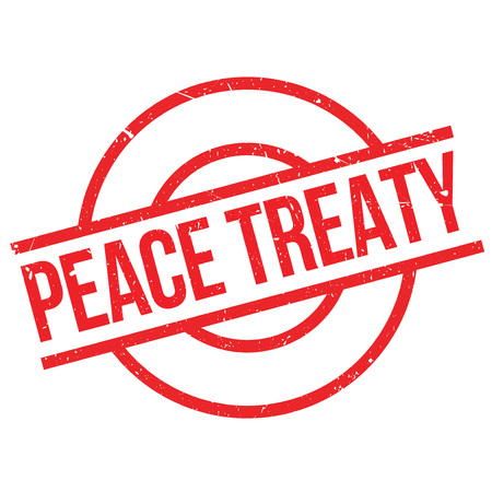 treaty: Peace Treaty rubber stamp. Grunge design with dust scratches. Effects can be easily removed for a clean, crisp look. Color is easily changed. Illustration