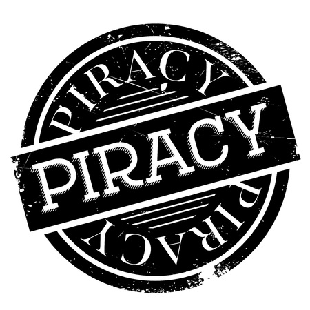 hijacking: Piracy rubber stamp. Grunge design with dust scratches. Effects can be easily removed for a clean, crisp look. Color is easily changed. Illustration