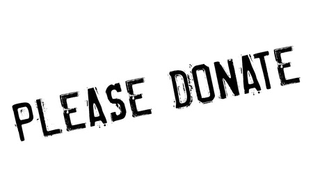 Please Donate rubber stamp. Grunge design with dust scratches. Effects can be easily removed for a clean, crisp look. Color is easily changed.