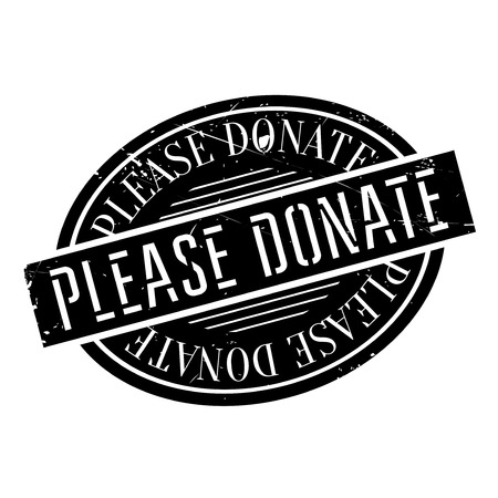 Please Donate rubber stamp. Grunge design with dust scratches. Effects can be easily removed for a clean, crisp look. Color is easily changed. 版權商用圖片 - 72503884