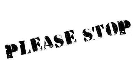 Please Stop rubber stamp. Grunge design with dust scratches. Effects can be easily removed for a clean, crisp look. Color is easily changed. 版權商用圖片 - 72504017