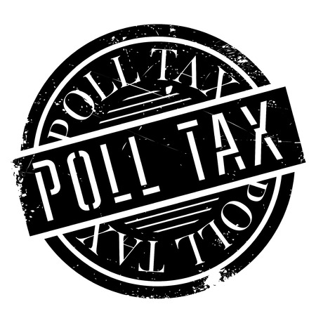 indirect: Poll Tax rubber stamp. Grunge design with dust scratches. Effects can be easily removed for a clean, crisp look. Color is easily changed. Stock Photo