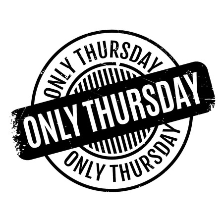 oneself: Only Thursday rubber stamp. Grunge design with dust scratches. Effects can be easily removed for a clean, crisp look. Color is easily changed.