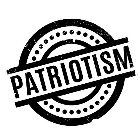 nationalist: Patriotism rubber stamp. Grunge design with dust scratches. Effects can be easily removed for a clean, crisp look. Color is easily changed. Illustration