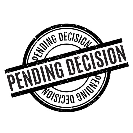 imminent: Pending Decision rubber stamp. Grunge design with dust scratches. Effects can be easily removed for a clean, crisp look. Color is easily changed. Illustration