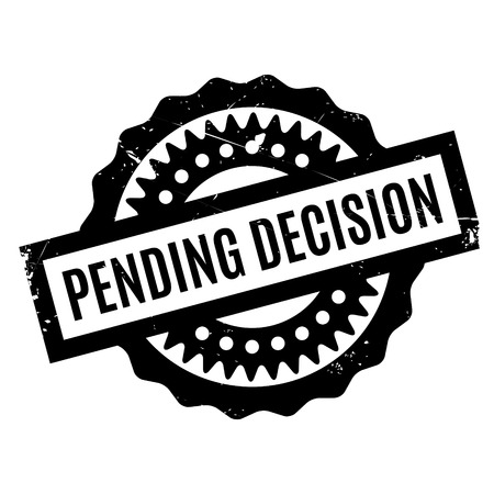 Pending Decision rubber stamp. Grunge design with dust scratches. Effects can be easily removed for a clean, crisp look. Color is easily changed.  イラスト・ベクター素材