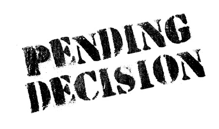forthcoming: Pending Decision rubber stamp. Grunge design with dust scratches. Effects can be easily removed for a clean, crisp look. Color is easily changed. Illustration