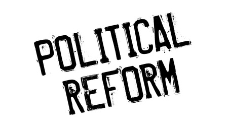 rebuild: Political Reform rubber stamp. Grunge design with dust scratches. Effects can be easily removed for a clean, crisp look. Color is easily changed.
