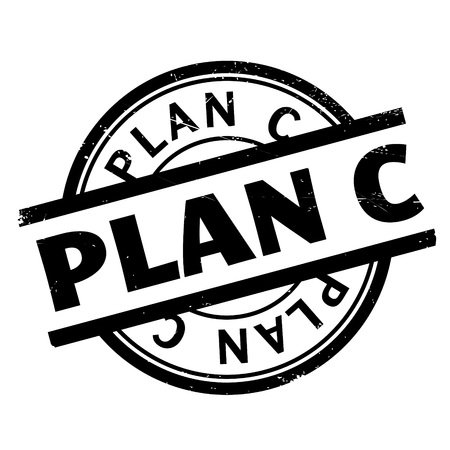 gimmick: Plan C rubber stamp. Grunge design with dust scratches. Effects can be easily removed for a clean, crisp look. Color is easily changed.