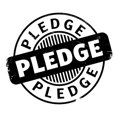 Pledge rubber stamp. Grunge design with dust scratches. Effects can be easily removed for a clean, crisp look. Color is easily changed.