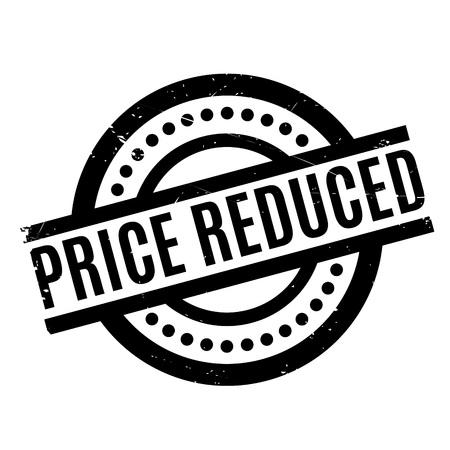 Price Reduced rubber stamp. Grunge design with dust scratches. Effects can be easily removed for a clean, crisp look. Color is easily changed.