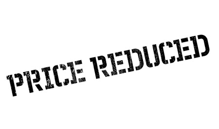 abbreviated: Price Reduced rubber stamp. Grunge design with dust scratches. Effects can be easily removed for a clean, crisp look. Color is easily changed.