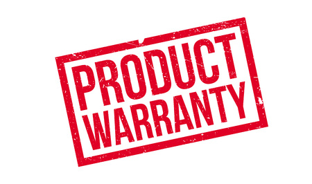 surety: Product Warranty rubber stamp. Grunge design with dust scratches. Effects can be easily removed for a clean, crisp look. Color is easily changed.